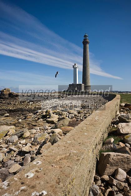 Europe/France/Bretagne/29/Finistère/Lilia: Le Phare de l'Ile Vierge  sur l'océan   à la sortie de l'Aber Wrac'h