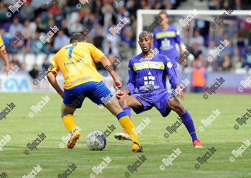 2013-09-01 / Voetbal / seizoen 2013-2014 / Beerschot Wilrijk - Ternesse / Tallal met Ascencion (r. Beerschot-Wilrijk)<br /><br />Foto: Mpics.be