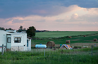Housing for workers living near Watford City in North Dakota looking into the sharp rise in shale drilling for oil in the large Bakken Formation, Thursday, July 18, 2012. ..Photo by MATT NAGER