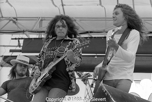 Ronnie Van Zant, Gary Rossington, Allen Collins, July 4, 1977; Oakland Coliseum