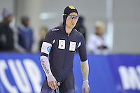 SPEED SKATING: SALT LAKE CITY: 20-11-2015, Utah Olympic Oval, ISU World Cup, 500m B-Division, Daniel Greig (AUS), ©foto Martin de Jong