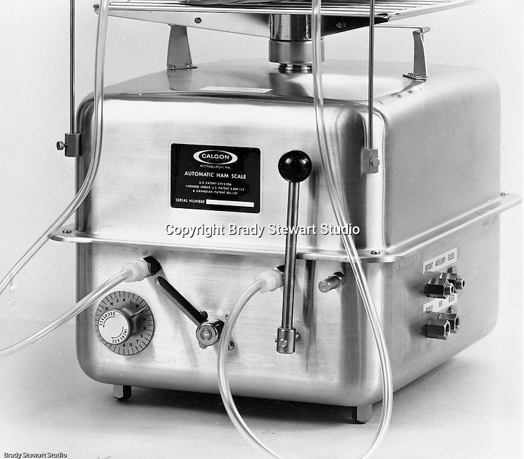 Client: Calgon<br /> Ad Agency: Ketchum MacLeod &amp; Grove<br /> Product: Automatic Ham Scale<br /> Location: Brady Stewart Studio, 725 Liberty Avenue in Pittsburgh.<br /> <br /> This scale was known as the Hagan Automatic Ham Scale and was manufactured and sold by Calgon.