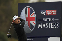 Haotong Li (CHN) on the 3rd tee during Round 4 of the Sky Sports British Masters at Walton Heath Golf Club in Tadworth, Surrey, England on Sunday 14th Oct 2018.<br /> Picture:  Thos Caffrey | Golffile<br /> <br /> All photo usage must carry mandatory copyright credit (&copy; Golffile | Thos Caffrey)