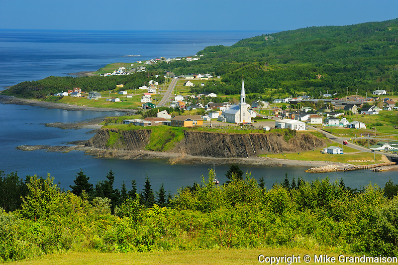 Coastal village in Gulf of St. Lawrence<br /> Grande Vallee<br /> Quebec<br /> Canada