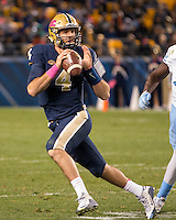 Pitt quarterback Nate Peterman. The North Carolina Tar Heels football team defeated the Pitt Panthers 26-19 on Thursday, October 29, 2015 at Heinz Field, Pittsburgh, Pennsylvania.
