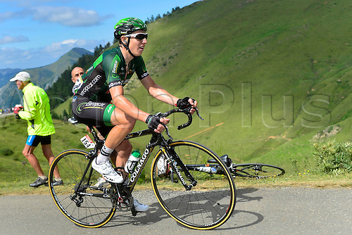 22.07.2014. Carcassonne to Bagnères-de-Luchon, France. Tour de France cycling championship, stage 16.   GAUTIER Cyril (FRA - Team Europcar) ascends the Port de Bales