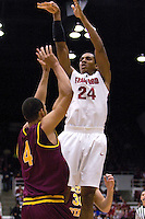 STANFORD, CA - JANUARY 2:  Stanford Cardinal Josh Owens during Stanford's 90-60 loss to the Arizona State Sun Devils on January 2, 2009 at Maples Pavilion in Stanford, California.