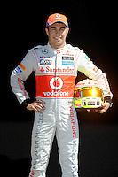 MCLAREN MERCEDES MEXICAN DRIVER SERGIO PEREZ. .Melbourne 16/03/2013 .Formula 1 Gp Australia.Foto Insidefoto.ITALY ONLY .Posato Ritratto Pilota