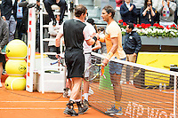 Scotch Andy Murray and Spanish Rafael Nadal during Semi-Finals Mutua Madrid Open Tennis 2016 in Madrid, May 07, 2016. (ALTERPHOTOS/BorjaB.Hojas) /NortePhoto.com