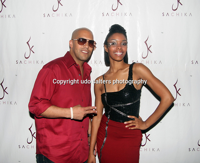 "The FEAM Group CEO Flash Rodriguez and Singer LaChelle attend SACHIKA Fall 2010 Collection ""Runway in a Circus"" Fashion Show held at Carnival, NY 8/20/10"