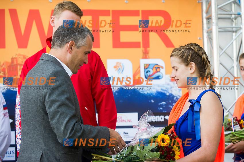 Podium - medal ceremony<br /> Hoorn, Netherlands <br /> LEN 2016 European Open Water Swimming Championships <br /> Open Water Swimming<br /> Men's 5km<br /> Day 02 12-07-2016<br /> Photo Giorgio Perottino/Deepbluemedia/Insidefoto