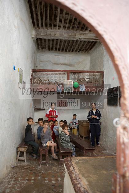 Afrique/Afrique du Nord/Maroc/Fèz: une classe scolaire dans la médina