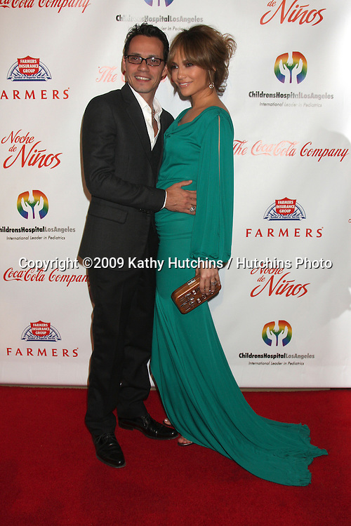 Marc Anthony & Jennifer Lopez arriving at the Noche De Ninos Gala at the Beverly Hilton Hotel in Beverly Hills , CA  on May 9, 2009.©2009 Kathy Hutchins / Hutchins Photo.....                .