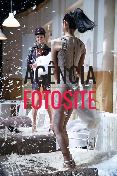 Milao, Italia &ndash; 02/2014 - Desfile de Dquared2 durante a Semana de moda de Milao - Inverno 2014. <br /> Foto: FOTOSITE