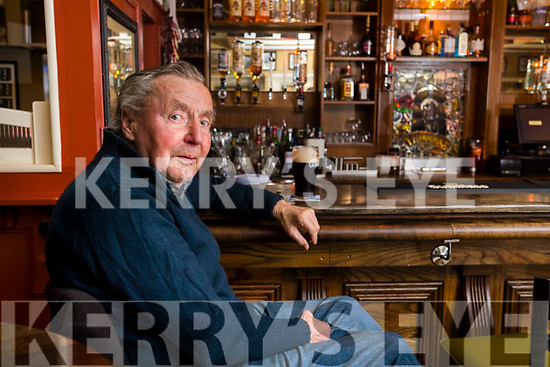 Francie Maher in the Bar at the Brogue Inn, Tralee.