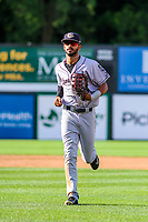 Kane County Cougars outfielder Luis Silverio (15) during game one of a Midwest League doubleheader against the Wisconsin Timber Rattlers on June 23, 2017 at Fox Cities Stadium in Appleton, Wisconsin.  Kane County defeated Wisconsin 4-3. (Brad Krause/Krause Sports Photography)