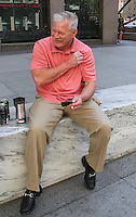 NEW YORK, NY - JUNE 30: Former Major League Baseball player and New York Met Lenny Dykstra spotted taking a smoke break between media appearances for his book 'House of Nails: A Memoir of Life on the Edge'  in New York, New York on June 30, 2016. Photo Credit: Rainmaker Photo/MediaPunch