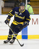 John Jamieson (Merrimack - 15) - The Merrimack College Warriors defeated the visiting Sweden Under 20 team 4-1 on Tuesday, November 2, 2010, at Lawler Arena in North Andover, Massachusetts.