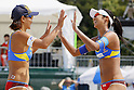 (L to R) Shinako Tanaka, Sayaka Mizoe, MAY 6, 2012 - Beach Volleyball : JBV Tour 2012 Sports Club NAS Open  Women's final at Odaiba Beach, Tokyo, Japan. (Photo by Yusuke Nakanishi/AFLO SPORT) [1090]