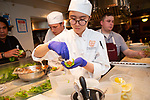 New York, NY - April 26, 2018:  Chef Roel Alcudia of<br /> Mandolin Aegean Bistro, Miami presents a Greek dinner at the James Beard House in Greenwich Village.<br /> <br /> CREDIT: Clay Williams for the James Beard Foundation.<br /> <br /> &copy; Clay Williams / http://claywilliamsphoto.com