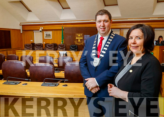 Niall Kelliher, Mayor Kerry County Council and Moira Murrell, CEO Kerry County Council