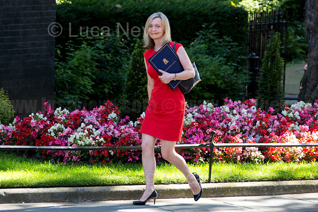 Elizabeth Truss MP (Lord Chancellor and Secretary of State for Justice).<br /> <br /> London, 19/07/2016. First Cabinet meeting at 10 Downing Street (after the EU Referendum and consequent David Cameron's resignation) for the new Prime Minister Theresa May and her newly formed Conservative Government.<br /> <br /> For more information about the Cabinet Ministers: https://www.gov.uk/government/ministers