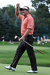 31 July 2008:  Fred Funk celebrates a birdie putt  during the 1st round of the 2008 US Senior Open Championship at The Broadmoor, Colorado Springs, CO.