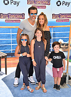 "Teddi Mellencamp, Edwin Arroyave & Family at the world premiere for ""Hotel Transylvania 3: Summer Vacation"" at the Regency Village Theatre, Los Angeles, USA 30 June 2018<br /> Picture: Paul Smith/Featureflash/SilverHub 0208 004 5359 sales@silverhubmedia.com"