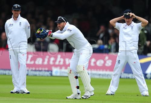 19.05.2012 London, England.  Matt Prior in action during the First Test between England and West Indies from Lords.