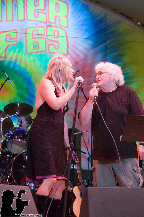 Jefferson Starship performs on Fremont Street  as part of 109 days Summer of 69