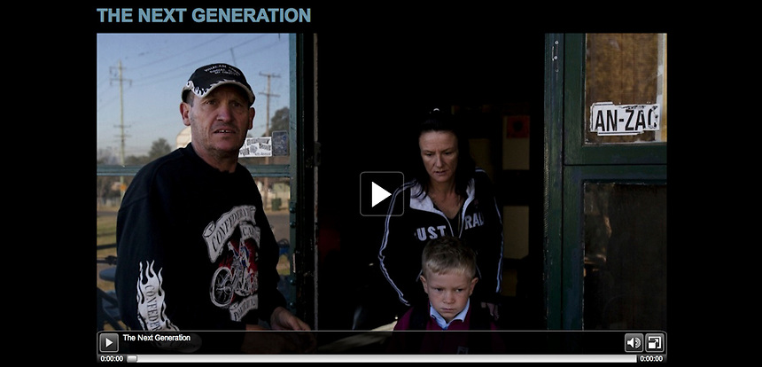 Screenshots from the 'Beating the Odds' multimedia documentary, published by ABC News Online in September 2010.