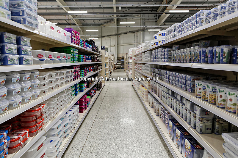 COPY BY TOM BEDFORD<br /> Pictured: Interior view of the store.<br /> Re: Trago Mills Mega Store, which opened its doors in Merthyr Tydfil, and is the largest store in Wales, UK. It is a £65m investment creating 350 jobs in one of Britain's biggest unemployment blackspots