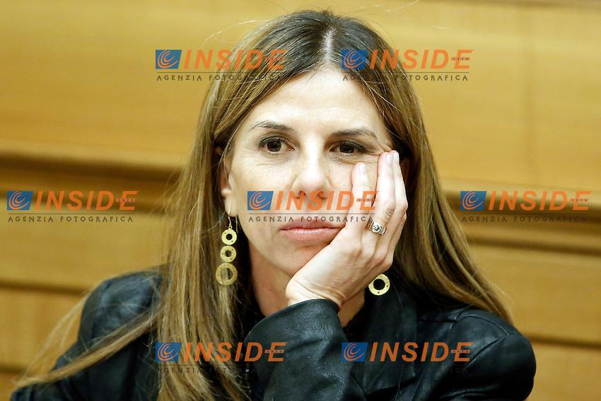 Fabrizia Giuliani <br /> Roma 10-03-2015 Sala Stampa Camera. Conferenza stampa dal titolo Essere donne ai tempi della crisi contro le discriminazioni sulle donne.<br /> Photo Samantha Zucchi Insidefoto