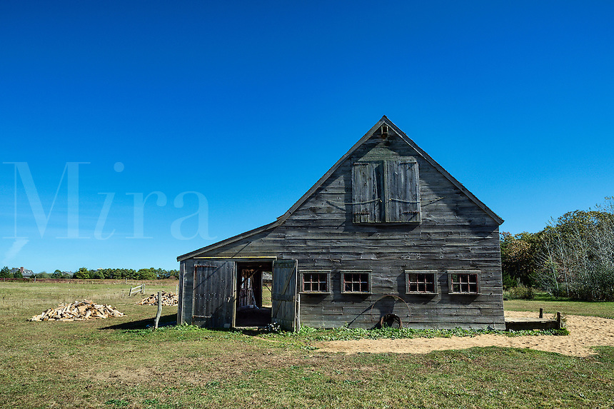 Rustic wooden barn, West Tisbury, Martha's Vineyard, Massachusetts, USA