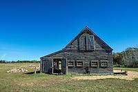 Rustic wooden barn, West Tisbury, Martha's Vineyard, Massachusetts, USA