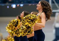 WASHINGTON, DC - FEBRUARY 8: George Washington cheerleaders perform during a game between Rhode Island and George Washington at Charles E Smith Center on February 8, 2020 in Washington, DC.