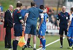 Rangers manager Mark Warburton looks on as Derek Lyle is ordered off the park