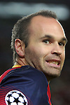 UEFA Champions League 2013/2014.<br /> FC Barcelona vs AFC Ajax: 4-0 - Game: 1.<br /> Andres Iniesta.