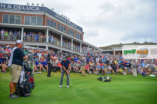 Kevin Kisner (USA) putts on to 18 during round 4 of the Dean &amp; Deluca Invitational, at The Colonial, Ft. Worth, Texas, USA. 5/28/2017.<br /> Picture: Golffile | Ken Murray<br /> <br /> <br /> All photo usage must carry mandatory copyright credit (&copy; Golffile | Ken Murray)