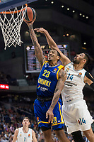 Real Madrid Gustavo Ayon and Khimki Moscow Malcolm Thomas during Turkish Airlines Euroleague match between Real Madrid and Khimki Moscow at Wizink Center in Madrid, Spain. November 02, 2017. (ALTERPHOTOS/Borja B.Hojas) /NortePhoto.com