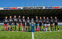 Picture by Allan McKenzie/SWpix.com - 14/05/2018 - Rugby League - Dacia Magic Weekend 2018 Preview - St James Park, Newcastle, England - Super League team representatives with The Man Van.