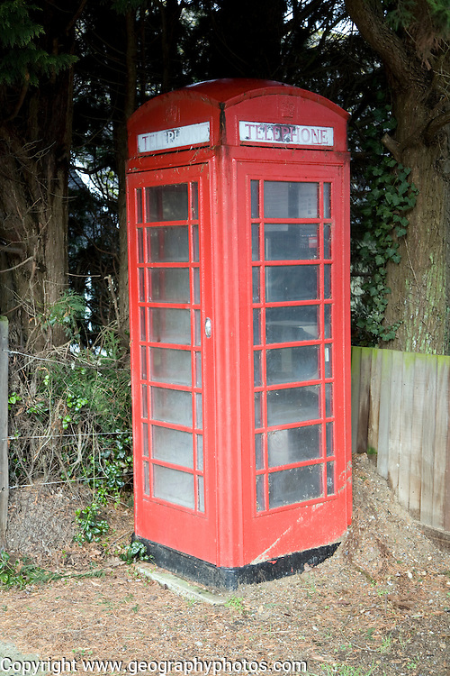 Traditional red telephone box