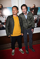 SANTA MONICA, CA - NOVEMBER 1: Takuji Masuda, Luke Wilson, at the Los Angeles Premiere of documentary Bunker77 at the Aero Theater in Santa Monica, California on November 1, 2017. Credit: Faye Sadou/MediaPunch /NortePhoto.com