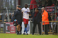 Injury concern for Emmanuel Onariase of Dagenham and Redbridge during Dagenham & Redbridge vs Aldershot Town, Vanarama National League Football at the Chigwell Construction Stadium on 16th November 2019