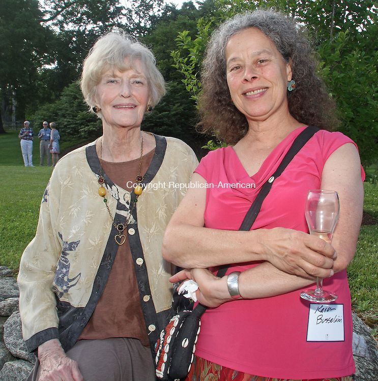 KENT, CT-062114MK33 (from left) Irene Connors and Karen Bussolini gathered at the Summer Solstice Soiree: Kent Memorial Library's Annual Fundraising Party at Iron Mountain Farm and Gardens. Michael Kabelka / Republican-American