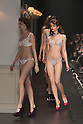 Models show off lingerie by Peach John at the Mercedes Benz Fashion Week Tokyo 2016 Autumn Winter show on March 15, 2016 in Tokyo, Japan. Peach John Co., Ltd. is a Japanese lingerie retailer owned by Wacoal. This was their first runway show in 10 years. (Photo by Michael Steinebach/AFLO)