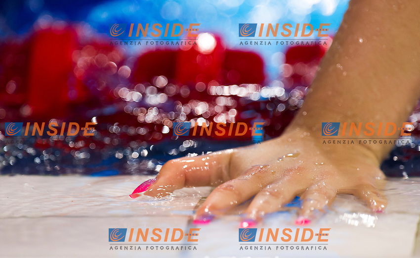 Nails of JUHASZ Adel HUN<br /> London, Queen Elizabeth II Olympic Park Pool <br /> LEN 2016 European Aquatics Elite Championships <br /> Swimming<br /> Women's 800m freestyle preliminary  <br /> Day 10 18-05-2016<br /> Photo Giorgio Perottino/Deepbluemedia/Insidefoto