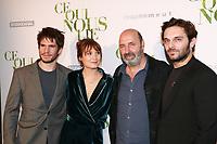 FRANCOIS CIVIL, ANA GIRARDOT, CEDRIC KLAPISCH & PIO MARMAI - Avant-premiere du film CE QUI NOUS LIE au UGC Champs-Elysees