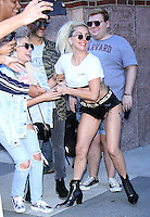 NEW YORK, NY-September 12:Lady Gaga at Z100 to talk about her new single Perfect Illusion in New York. September 12, 2016. Credit:RW/MediaPunch