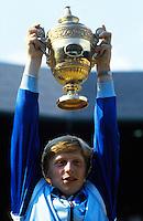 Boris Becker<br /> Wimbledon 1985<br /> Copyright Michael Cole